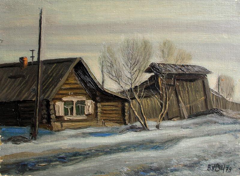 Valeriy NESTEROV - Pintura - A village near Nizhniy Tagil