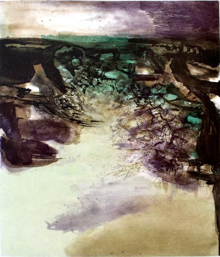赵无极 - 版画 - Composition VI, from: Canto Pisan