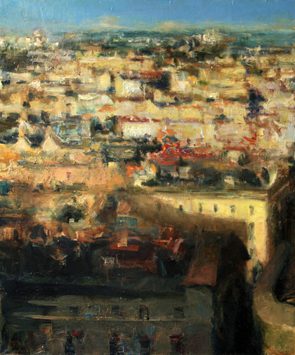 Levan URUSHADZE - Pittura - Morning roofs