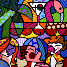 Romero BRITTO - Grabado - News Cafe