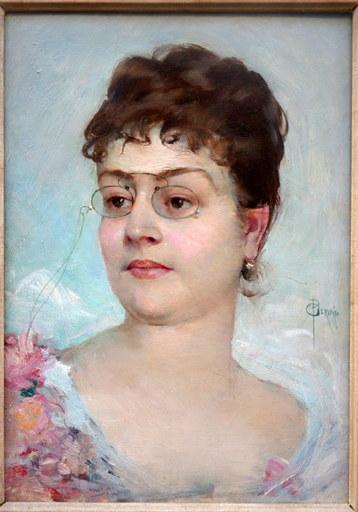 "Paul Jean GERVAIS - Peinture - ""Jeune Femme"""