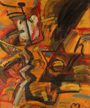 Valentin VOROBIOV - Pintura - Red Gnome