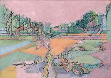 Jacques VILLON - Pintura - Le potager