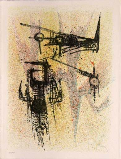 Wifredo LAM - Estampe-Multiple - Untitled