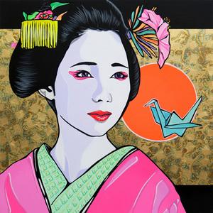 Andrea FUMAGALLI - Painting - Geisha proud