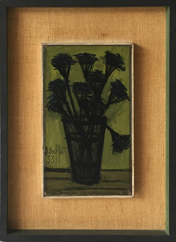 Bernard BUFFET - Peinture - Still Life of Flowers