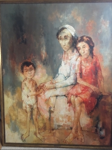 Jean JANSEM - Painting - Family