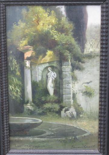 Edmund Friedrich KANOLDT - 绘画 - Leonorenbrunnen Park Villa d´Este