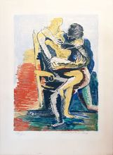 Ossip ZADKINE - Estampe-Multiple - Les Amants