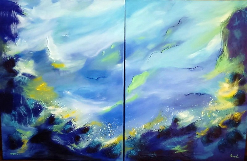 ANVAL - Painting - Abysse