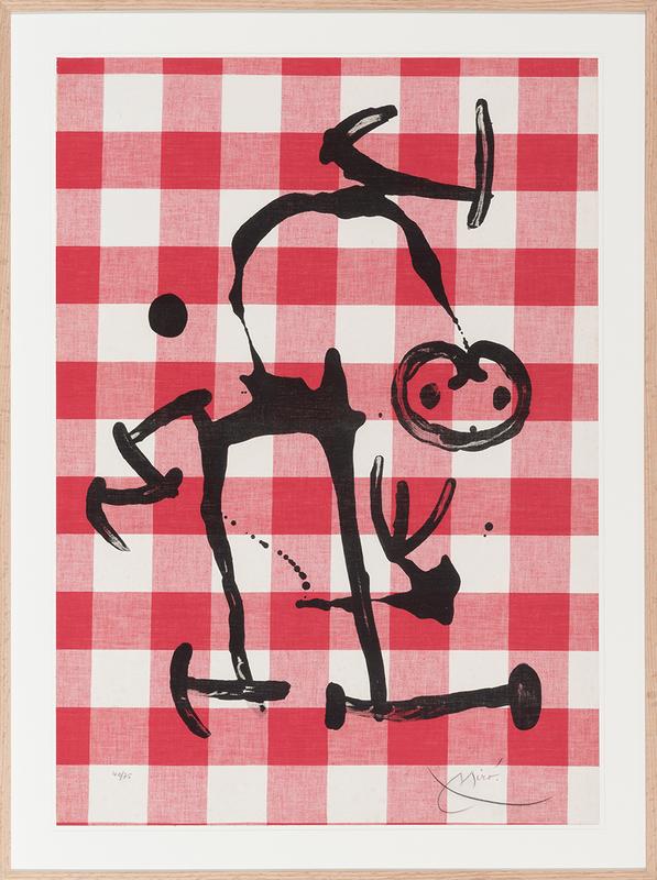 Joan MIRO - Print-Multiple - L´illêtre aux carreaux rouges