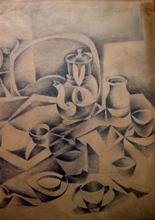 Gottlieb Michael ARAM - Dibujo Acuarela - Still life, 1951