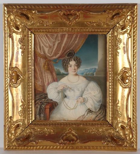 "Josef BEKEL - Zeichnung Aquarell - ""Portrait of a Lady"", 1835, Watercolor"