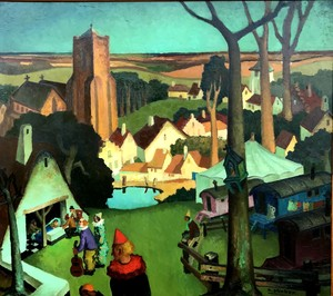 """Raymond DIERICKX - Painting - """"NATIVITE AU CIRQUE"""""""