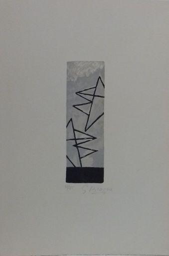 """Georges BRAQUE - Grabado - """"Ciel Gris I"""""""