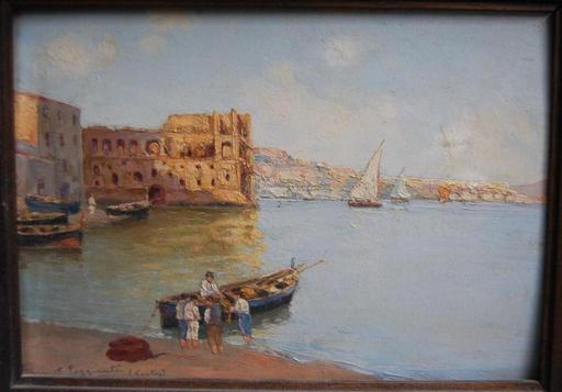 C. POGGIANTI - Pintura - vue de Naples