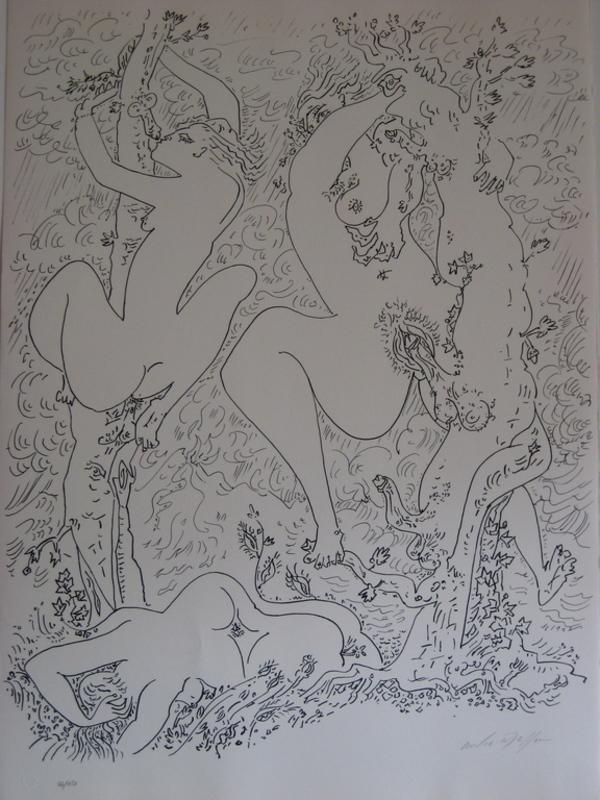 André MASSON - Stampa-Multiplo - LITHOGRAPHIE SIGNÉE AU CRAYON NUM/150 HANDSIGNED LITHOGRAPH