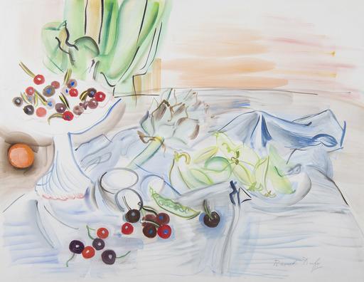 Raoul DUFY - Zeichnung Aquarell - Nature morte à l'artichaut