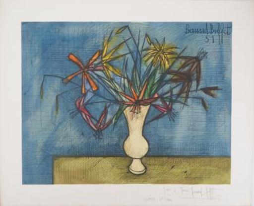 Bernard BUFFET - Grabado - Flower Bouquet