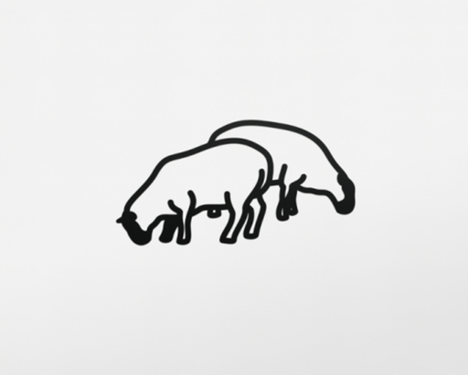 Julian OPIE - Scultura Volume - Sheep 1, from Nature 1 Series