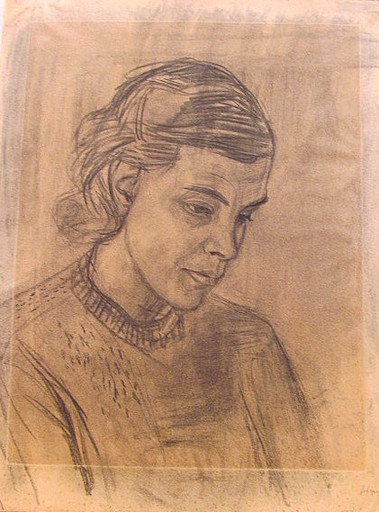 Erich HARTMANN - Drawing-Watercolor - Frau von Siebert