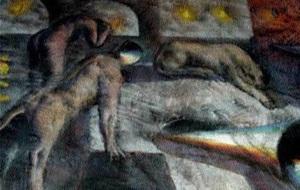 Armando MORALES - Pittura - Dream With Animals II