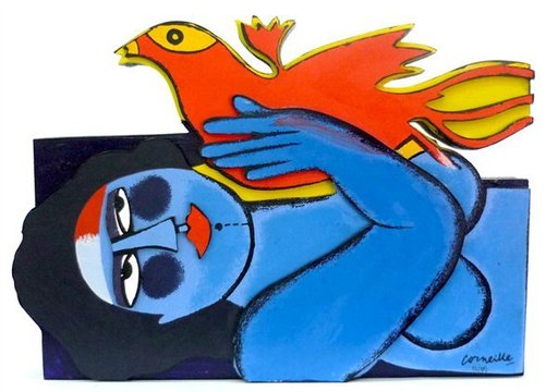 CORNEILLE - Print-Multiple - Woman and Bird