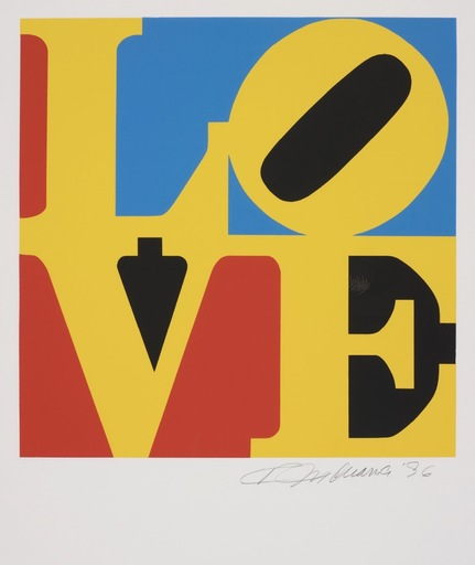 Robert INDIANA - Estampe-Multiple - Love #4 (from the Book of Love)