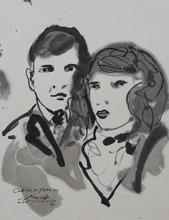 CHU Teh-Chun - Disegno Acquarello - Portraits de Claire et Yvan