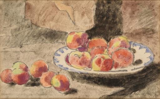 Louis VALTAT - Drawing-Watercolor - Nature morte aux pommes