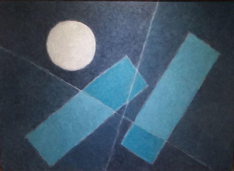 Jorj MORIN - Painting - PLEINE LUNE