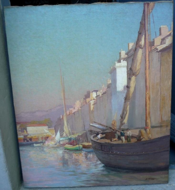 Jean-Baptiste OLIVE - Painting - EL PUERTO DE MARSELLA