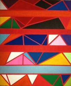 """Piero DORAZIO - Painting - """"A cinque II"""""""