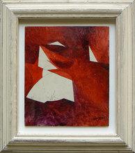 Piero RUGGERI - Pintura - Paesaggio rosso NF153