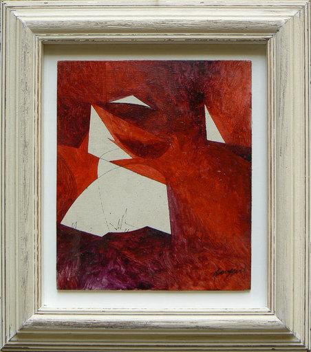 Piero RUGGERI - Painting - Paesaggio rosso NF153