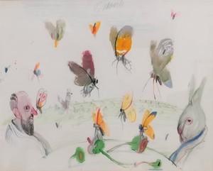 Antonio POSSENTI - Dibujo Acuarela - Farfalle