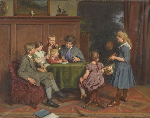 Felix SCHLESINGER - Pintura - children Orchestra