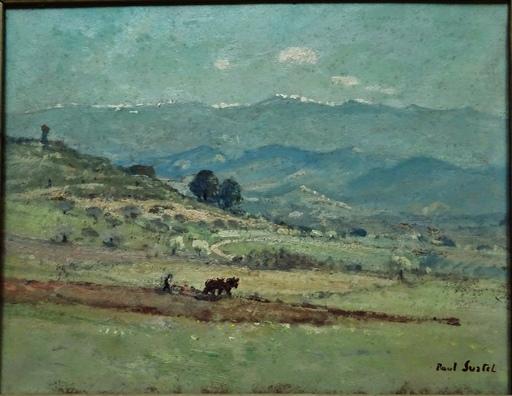 Paul SURTEL - Peinture - Labours à Volonne, Provence