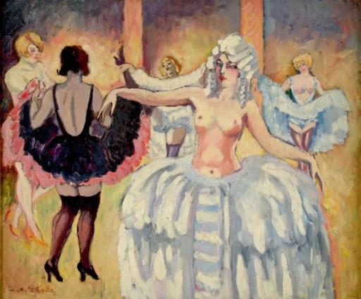 Ludovic Rodo PISSARRO - Pintura - Cabaret Dancers