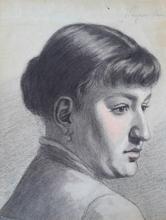 Ferencné PACZKA - Drawing-Watercolor - Portrait of a Woman