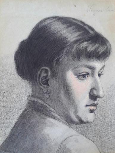 Ferencné & Cornélia PACZKA - 水彩作品 - Portrait of a Woman