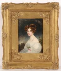 "Moritz Michael DAFFINGER - Miniatura - ""Karoline, Baroness von Siber"", large miniature on ivory"