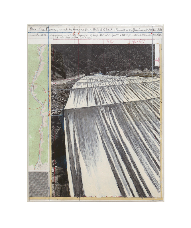 CHRISTO - Painting - Over the river, Project for the Arkansas River