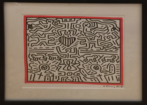 Keith HARING - Drawing-Watercolor - Heart