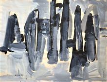 Ladislas KIJNO - Drawing-Watercolor - Untitled (1959)