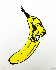 Thomas BAUMGÄRTEL - Estampe-Multiple - Lions-Banane
