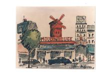 Raoul DUFY - Drawing-Watercolor - Moulin Rouge
