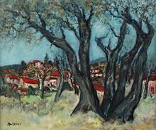 Isaac ANTCHER - Gemälde - les grands arbres