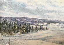 Raymonde AUBRY - Painting - Combe sous la neige