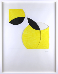 Norman DILWORTH - Drawing-Watercolor - Square and circle 12